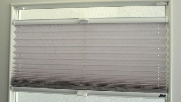 Pleated blinds in a customers home